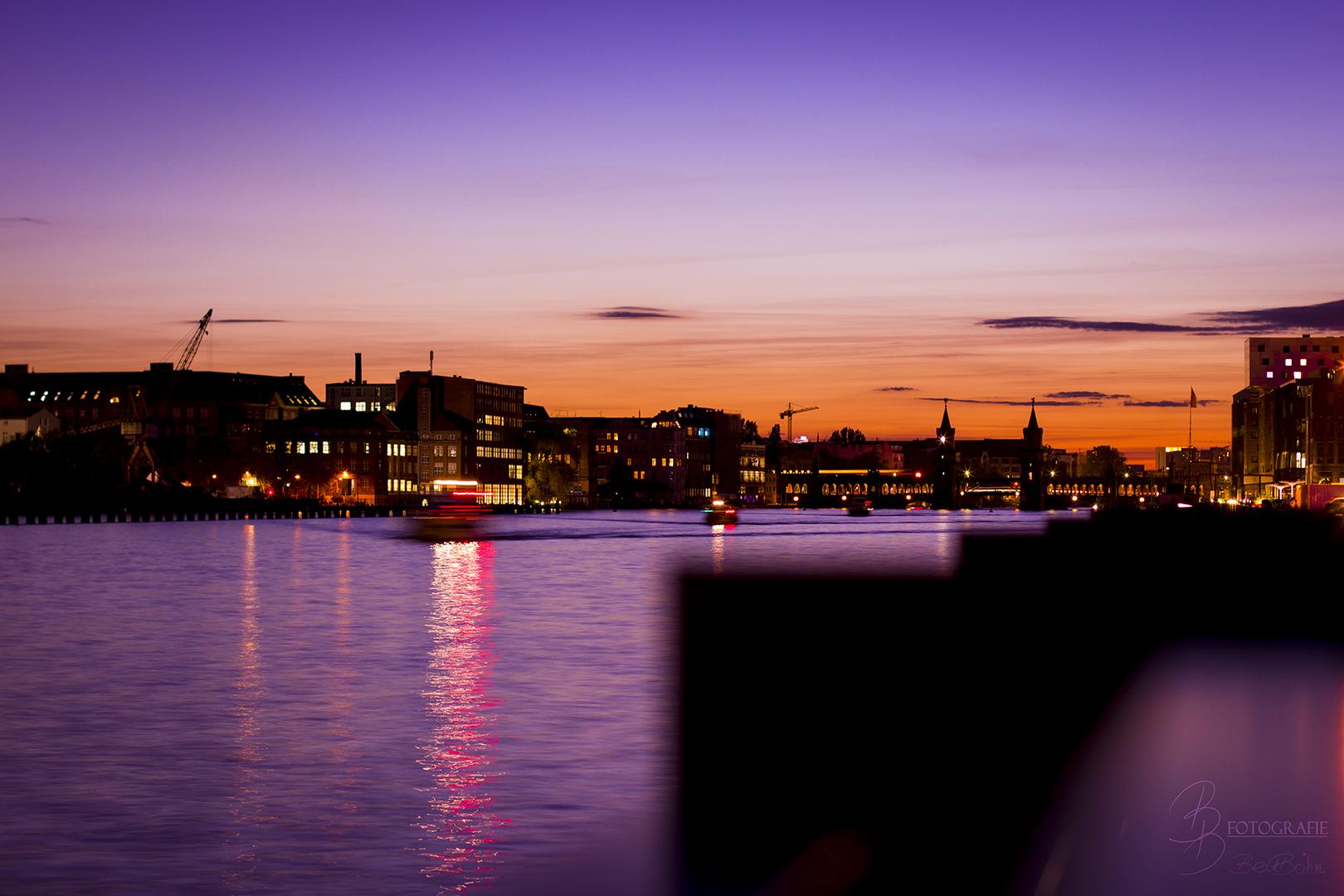 02 Berlin Sonnenuntergang über der Oberbaumbrücke