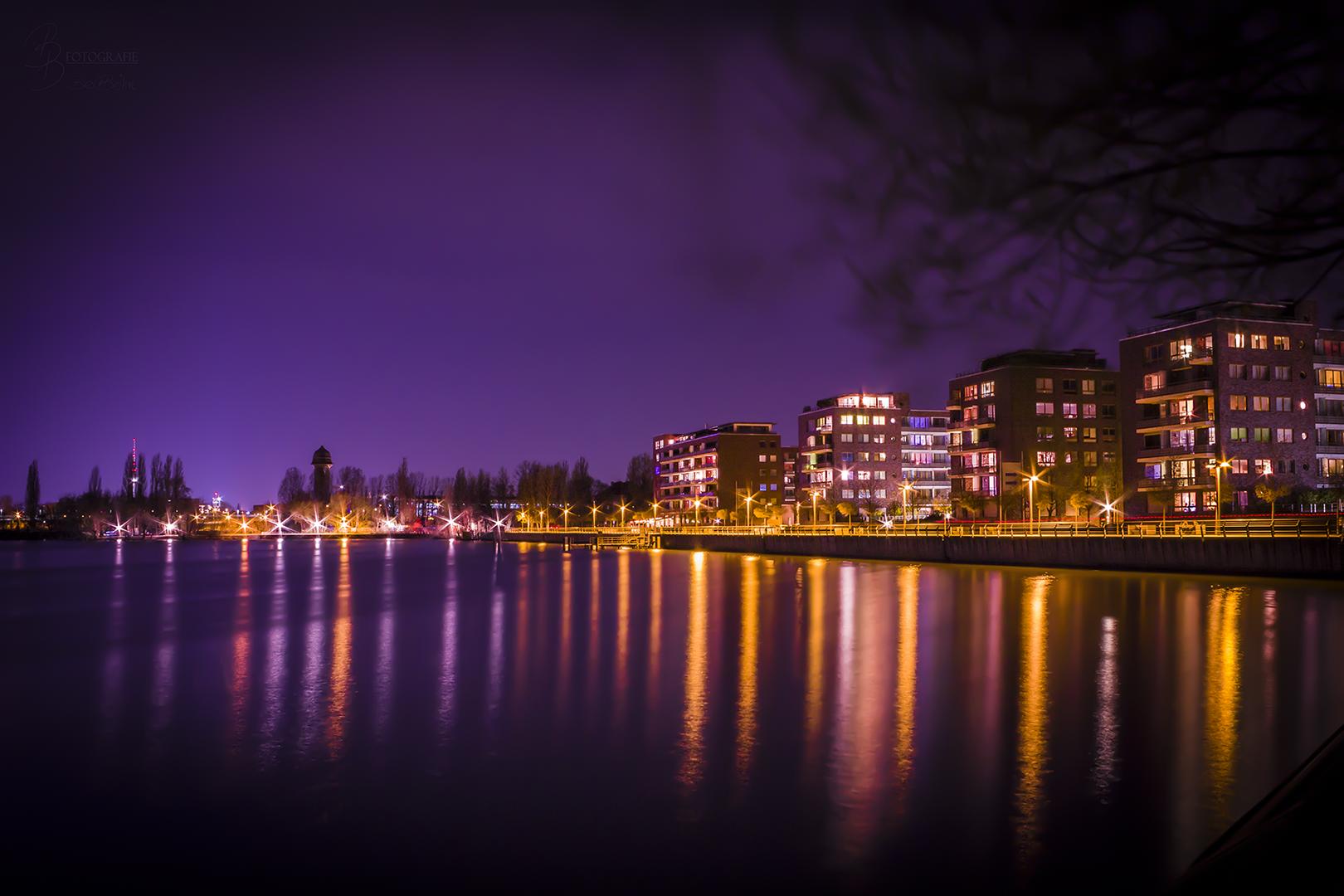 08 Rummerlburger Bucht Berlin bei Nacht