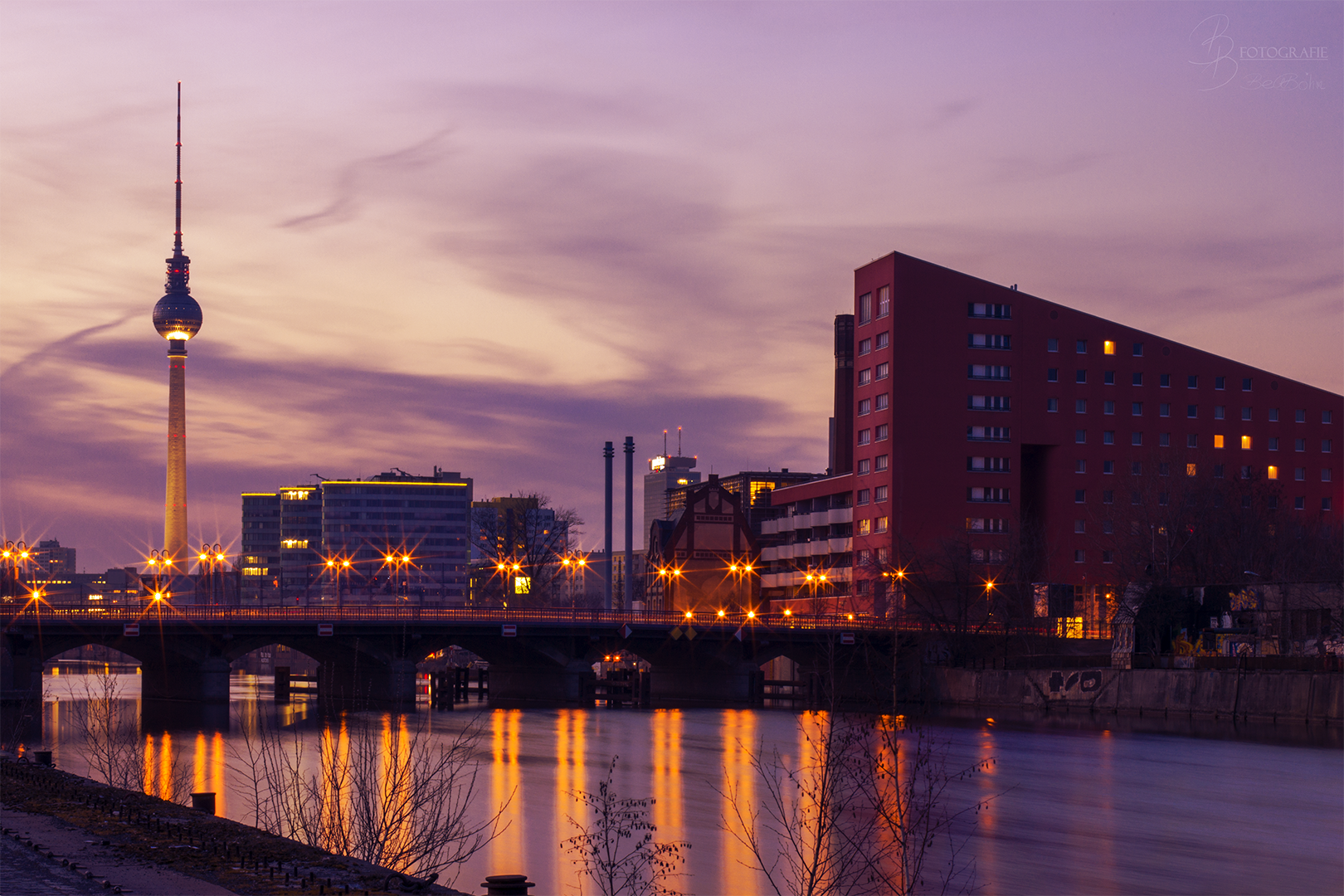 10 Sonnenuntergang über der Schillingbrücke Berlin