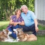 7 Shooting mit Tina, Rolf und den Huskies - Familienportrait II