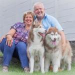 5 Shooting mit Tina, Rolf und den Huskies - Familienportrait