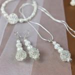 Brautschmuck Set mit edlen Perlen und filigranen Silberelementen von JDUnikat Schmuckdesignerin Jana Drange, Schmuck handmade aus Berlin
